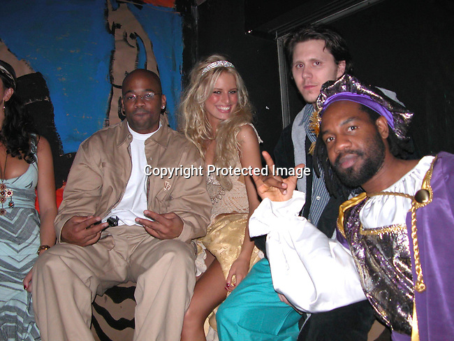 Damon Dash, Karoline Kurkova &amp; Unik<br />**EXCLUSIVE**<br />&ldquo;Mahalloween 2003&rdquo; - Hallowe&rsquo;en Party hosted by Karoline Kurkova <br />Lot 61<br />New York City, NY, USA<br />Friday, October, 31, 2003<br />Photo By Celebrityvibe.com/Photovibe.com