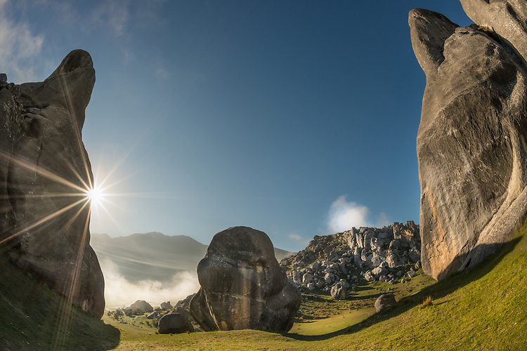 Castle Hill Limestone Rocks, Canterbury High Country, South Island, New Zealand