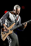 PASADENA, CA. - October 25: Bassist Adam Clayton of U2  performs in concert during their 360º Tour at the Rose Bowl on October 25, 2009 in Pasadena, California.