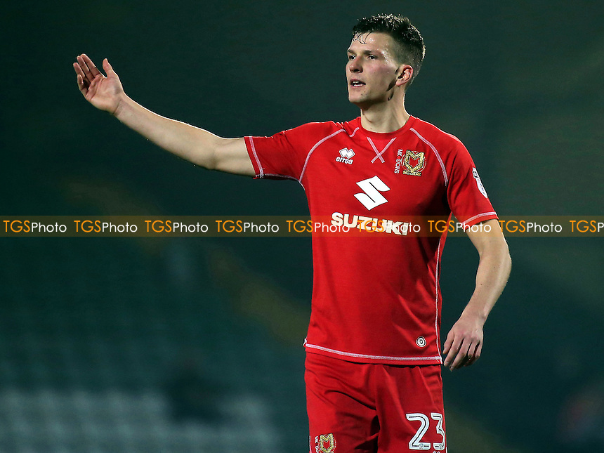 Paul Downing of MK Dons during Yeovil Town vs MK Dons, Checkatrade Trophy Football at Huish Park on 6th December 2016