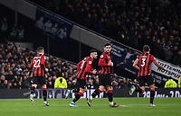 30th November 2019; Tottenham Hotspur Stadium, London, England; English Premier League Football, Tottenham Hotspur versus AFC Bournemouth; Harry Wilson of Bournemouth celebrates scoring from a free kick in 73rd minute 3-1 - Strictly Editorial Use Only. No use with unauthorized audio, video, data, fixture lists, club/league logos or 'live' services. Online in-match use limited to 120 images, no video emulation. No use in betting, games or single club/league/player publications