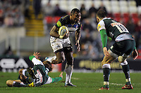 Semesa Rokoduguni of Bath Rugby takes on the Leicester Tigers defence. Aviva Premiership match, between Leicester Tigers and Bath Rugby on November 29, 2015 at Welford Road in Leicester, England. Photo by: Patrick Khachfe / Onside Images