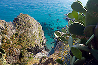 Capo Vaticano, Calabria, Italy, May 2007. Steep cliffs, white pebble beaches with a backdrop of turquoise waters make up the Capo Vaticano, where traditional life is fast being replaced by tourism. Many picturesque towns line the mountainous coastline of Calabria. Photo by Frits Meyst/Adventure4ever.com