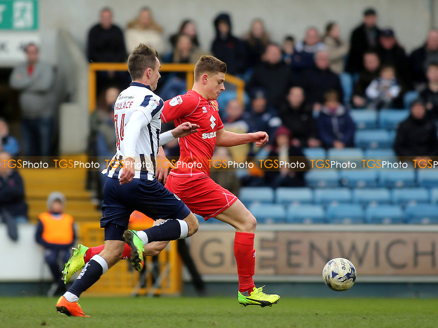 Harvey Barnes of MK Dons races upfield during Millwall vs MK Dons, Sky Bet EFL League 1 Football at The Den on 4th March 2017