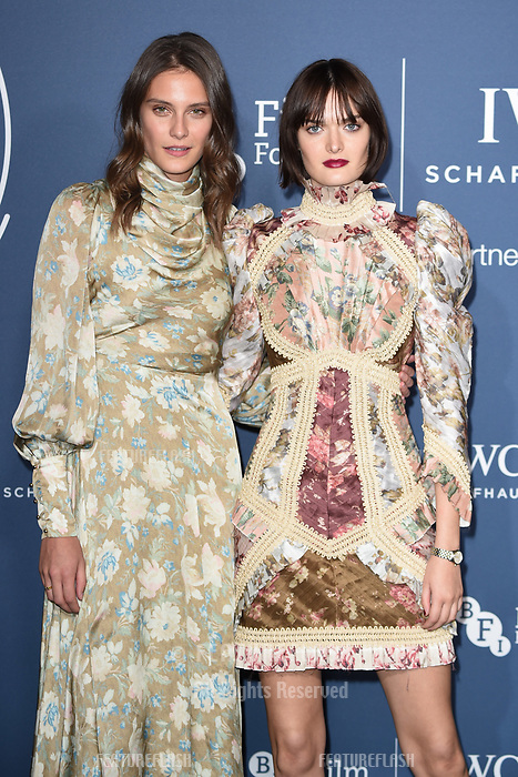LONDON, UK. October 09, 2018: Charlotte Wiggins & Sam Rollinson arriving for the 2018 IWC Schaffhausen Gala Dinner in Honour of the BFI at the Electric Light Station, London.<br /> Picture: Steve Vas/Featureflash