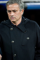 Jose Mourinho moments before match starts