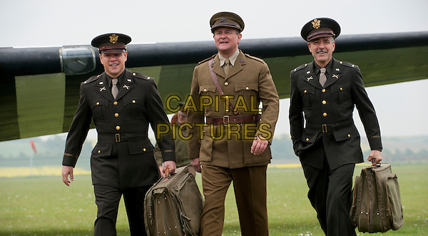 Matt Damon, Hugh Bonneville and George Clooney<br /> in The Monuments Men (2014) <br /> *Filmstill - Editorial Use Only*<br /> CAP/FB<br /> Image supplied by Capital Pictures