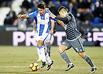 CD Leganes' Gabriel Pires (l) and Celta de Vigo's Alvaro Lemos during La Liga match. January 28,2017. (ALTERPHOTOS/Acero)