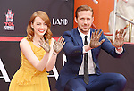 Ryan Gosling And Emma Stone Hand And Footprint Ceremony 12-7-16