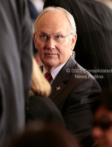 U.S. Republican Senator Larry Craig of Idaho attends a Congressional Gold Medal ceremony for the Dalai Lama in Washington DC USA on 17 October 2007. Craig, a three-term Republican, pleaded guilty to disorderly conduct in August after he was accused of soliciting sex in a bathroom at the Minneapolis-St. Paul International Airport in June.