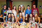 Ciara Hallissey,Chapel St,Tralee(seated centre)had a smashing time in restaurant Uno's,Tralee last Friday night celebrating her 16th birthday(seated)L-R Sophie Fitzgerald,Louise Crowley,Ciara Hallissey,Renee Brosnan and Emilia Jountyte(back)L-R Mark Donovan,ger Dunne,Tamara Foley,kelly Donovan,Rebecca Lee and Shane Dunne.