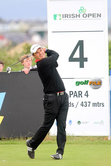 Simon Khan (ENG) on the 4th on Day 3 of the 2012 Irish Open at Royal Portrush Golf Club, Portrush, Co.Antrim, 30/6/12...(Photo Jenny Matthews/www.golffile.ie)