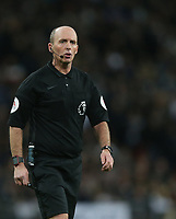 Referee Mike Dean<br /> <br /> Photographer Rob Newell/CameraSport<br /> <br /> The Premier League - Tottenham Hotspur v Manchester United - Sunday 13th January 2019 - Wembley Stadium - London<br /> <br /> World Copyright &copy; 2019 CameraSport. All rights reserved. 43 Linden Ave. Countesthorpe. Leicester. England. LE8 5PG - Tel: +44 (0) 116 277 4147 - admin@camerasport.com - www.camerasport.com