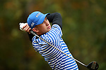 GREENSBORO, NC - OCTOBER 29: Duke's Chandler Eaton on the 5th tee. The third round of the UNCG/Grandover Collegiate Men's Golf Tournament was held on October 29, 2017, at the Grandover Resort East Course in Greensboro, NC.
