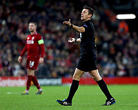 Referee Gianluca Rocchi <br /> <br /> Photographer Rich Linley/CameraSport<br /> <br /> UEFA Champions League Round of 16 First Leg - Liverpool and Bayern Munich - Tuesday 19th February 2019 - Anfield - Liverpool<br />  <br /> World Copyright © 2018 CameraSport. All rights reserved. 43 Linden Ave. Countesthorpe. Leicester. England. LE8 5PG - Tel: +44 (0) 116 277 4147 - admin@camerasport.com - www.camerasport.com