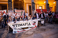 Palermo (Sicily - Italy), 17/07/2017. &quot;In che Stato &egrave; la mafia?&quot; (&quot;In what 'State' is the mafia?&quot; - in this case the word 'State' is an Italian pun: State means Nation but also condition/situation) Conference held at the Faculty of Law of the University of Palermo. The conference was organised by &quot;Associazione Culturale Falcone e Borsellino&quot;, &quot;Rete Universitaria Mediterranea&quot;, &quot;ContrariaMente&quot;, and supported by the online publication &quot;ANTIMAFIADuemila&quot;. <br /> <br /> For more info and a video of the event please click here: http://bit.ly/2h36vUF &amp; https://youtu.be/A1AEYN35Scw &amp; http://19luglio1992.com &amp; https://www.facebook.com/agenderosse/ &amp; http://www.antimafiaduemila.com/ &amp; http://www.reteuniversitariamediterranea.it/ &amp; https://www.facebook.com/contrariamente.palermo/