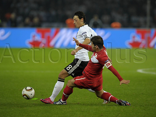 08 10 2010  Euro Qualification Germany Turkey in Berlin Olympic Stadium v l Mesut Ozil Germany against Emre Belzoglu Turkey