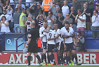 Bolton Wanderers' Adam Le Fondre celebrates scoring his side's first goal <br /> <br /> Photographer Rachel Holborn/CameraSport<br /> <br /> The EFL Sky Bet Championship - Bolton Wanderers v Nottingham Forest - Sunday 6th May 2018 - Macron Stadium - Bolton<br /> <br /> World Copyright &copy; 2018 CameraSport. All rights reserved. 43 Linden Ave. Countesthorpe. Leicester. England. LE8 5PG - Tel: +44 (0) 116 277 4147 - admin@camerasport.com - www.camerasport.com
