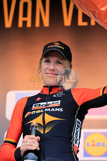 Ellen Van Dijk (NED) Boels Dolmans wins the 2014 Women's Tour of Flanders, Oudenaarde, Belgium.<br /> Picture: Eoin Clarke www.newsfile.ie