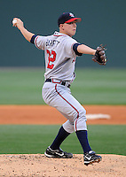 May 8, 2008: LHP Eric Barrett (32) of the Rome Braves, Class A affiliate of the Atlanta Braves, in a game against the Greenville Drive at Fluor Field at the West End in Greenville, S.C. Photo by:  Tom Priddy/Four Seam Images