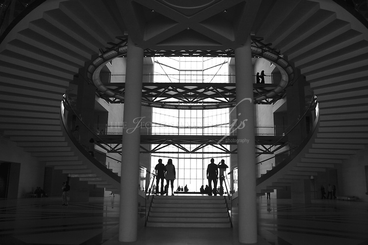 Staircase of the Museum of Islamic Art, Designed by I M Pei, Doha, Qatar | Dec 08