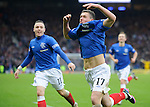 Fraser Aird celebrates his last gasp winning goal for Rangers