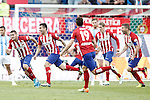 Atletico de Madrid's Koke Resurrecccion, Angel Correa, Lucas Hernandez, Fernando Torres and Gabi Fernandez celebrate goal during La Liga match. April 23,2016. (ALTERPHOTOS/Acero)
