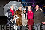 Singing & Dancing in the Rain at the New Years Celebration's at the Waterville were Patricia Gibson, Angela Stephenson, Nula O'Sullivan, Frank Stephenson & John O'Sullivan.
