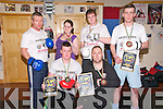 Golden Gloves Kick Boxing Club : Members of listowel's Golden Gloves Kick Boxing Club who won medals at the National championships held in the Dublin KC centre at the weekend and who have no qualified for the world championships in Prague in November.Front : Andrew Murphy, silver & Damian Goad, bronze. Back : Michael O'Brien, manager & coach, Nicole Williams, silver, Keuth Murphy, silver & Louis Dore, bronze.