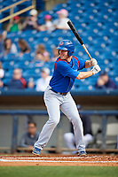 South Bend Cubs right fielder Brandon Hughes (11) at bat during the first game of a doubleheader against the Lake County Captains on May 16, 2018 at Classic Park in Eastlake, Ohio.  South Bend defeated Lake County 6-4 in twelve innings.  (Mike Janes/Four Seam Images)