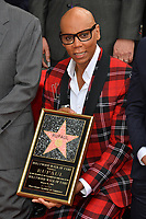 RuPaul at the Hollywood Walk of Fame Star Ceremony honoring TV drag star RuPaul on Hollywood Boulevard, Los Angeles, USA 16 March 2018<br /> Picture: Paul Smith/Featureflash/SilverHub 0208 004 5359 sales@silverhubmedia.com