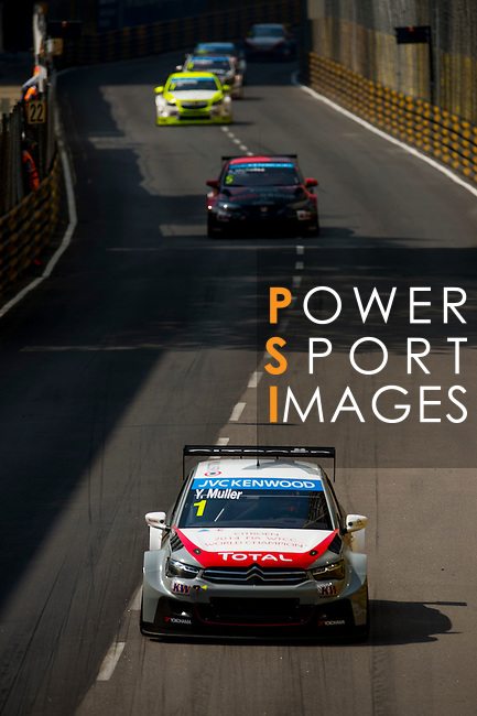 Yvan Muller races the FIA WTCC during the 61st Macau Grand Prix on November 16, 2014 at Macau street circuit in Macau, China. Photo by Aitor Alcalde / Power Sport Images