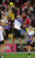 during the Australian Rules Football ANZAC Day match between St Kilda Saints and Sydney Swans at Westpac Stadium, Wellington, New Zealand on Thursday, 24 May 2013. Photo: Dave Lintott / lintottphoto.co.nz