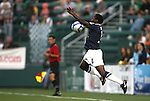 26 August 2011: Harrisburg's Brian Ombiji (KEN). The Harrisburg City Islanders defeated the Rochester Rhinos 2-1 in their USL PRO semifinal played at Sahlen's Stadium in Rochester, New York.