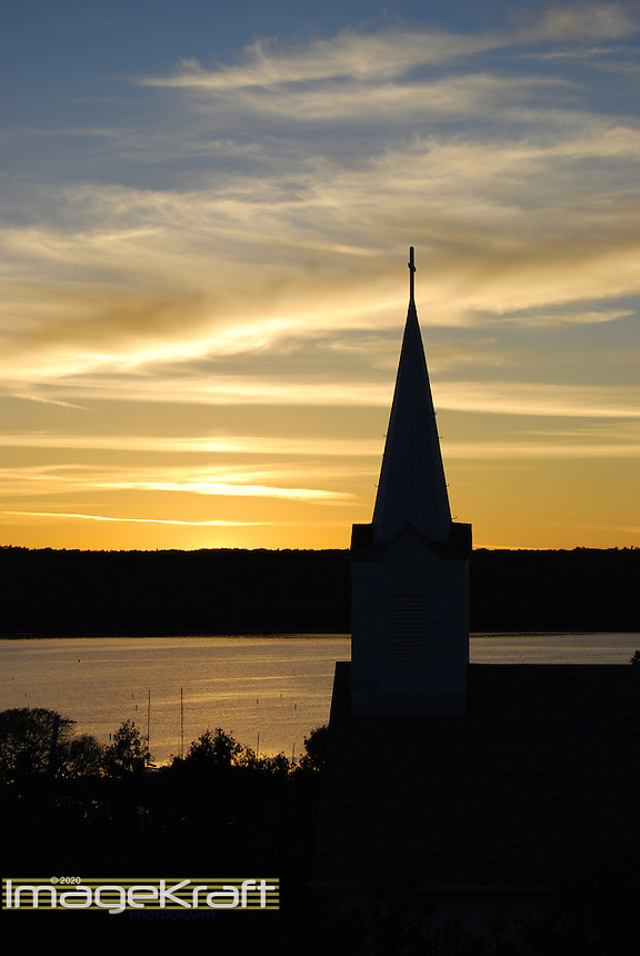 Church silhouette in Ephraim, Door County, Wisconsin