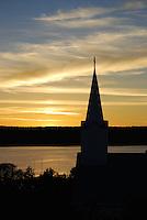 Church silhouette in Ephraim, Door County, Wisconsin