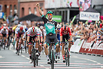 Pascal Ackermann (GER) Bora-Hansgrohe wins Stage 1 of the Deutschland Tour 2019, running 167km from Hannover to Halberstadt, Germany. 29th August 2019.<br /> Picture: Mario Stiehl | Cyclefile<br /> All photos usage must carry mandatory copyright credit (© Cyclefile | Mario Stiehl)