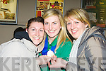 Siobhain Fleming with Joanne Walmsley left and Reidin Loughlin at Kerry airport  on Monday night