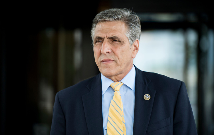 UNITED STATES - JUNE 13: Rep. Lou Barletta, R-Pa., leaves the House Republican Conference meeting at the Capitol Hill Club in Washington on Wednesday morning, June 13, 2018. (Photo By Bill Clark/CQ Roll Call)