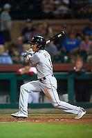 Mesa Solar Sox Yefri Perez (1), of the Miami Marlins organization, during a game against the Scottsdale Scorpions on October 17, 2016 at Scottsdale Stadium in Scottsdale, Arizona.  Mesa defeated Scottsdale 12-2.  (Mike Janes/Four Seam Images)