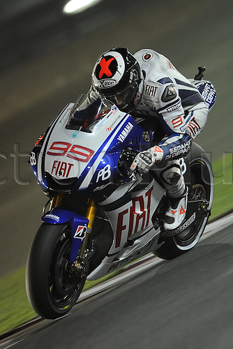 10 04 2010  ImagePhoto CI Losail Qatar 10 04 2010  MotoGP Photo Carmelo Imbesi  Jorge Lorenzo . Action from the FIM MotoGP Qatar World Cup.