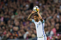 England's Ryan Bertrand in action <br /> <br /> Photographer Craig Mercer/CameraSport<br /> <br /> FIFA World Cup Qualifying - European Region - Group F - England v Solvenia - Thursday 5th October 2017 - Wembley Stadium - London<br /> <br /> World Copyright &copy; 2017 CameraSport. All rights reserved. 43 Linden Ave. Countesthorpe. Leicester. England. LE8 5PG - Tel: +44 (0) 116 277 4147 - admin@camerasport.com - www.camerasport.com