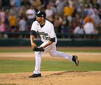 Brennan Garr of the Clinton Lumberkings during the Midwest League All-Star game.  Photo by:  Mike Janes/Four Seam Images