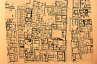 "World Civilization:  Indus Valley--Plan .  City of Mohenjo-Daro, an archeological site situated in the province of Sindh, Pakistan.  Grid ""appears to have been laid out from the beginning.""  Whitehouse, FIRST CITIES."