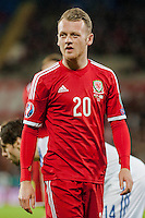 Wednesday 4th  December 2013 Pictured: Jake Taylor of Wales  <br /> Re: UEFA European Championship Wales v Cyprus at the Cardiff City Stadium, Cardiff, Wales, UK
