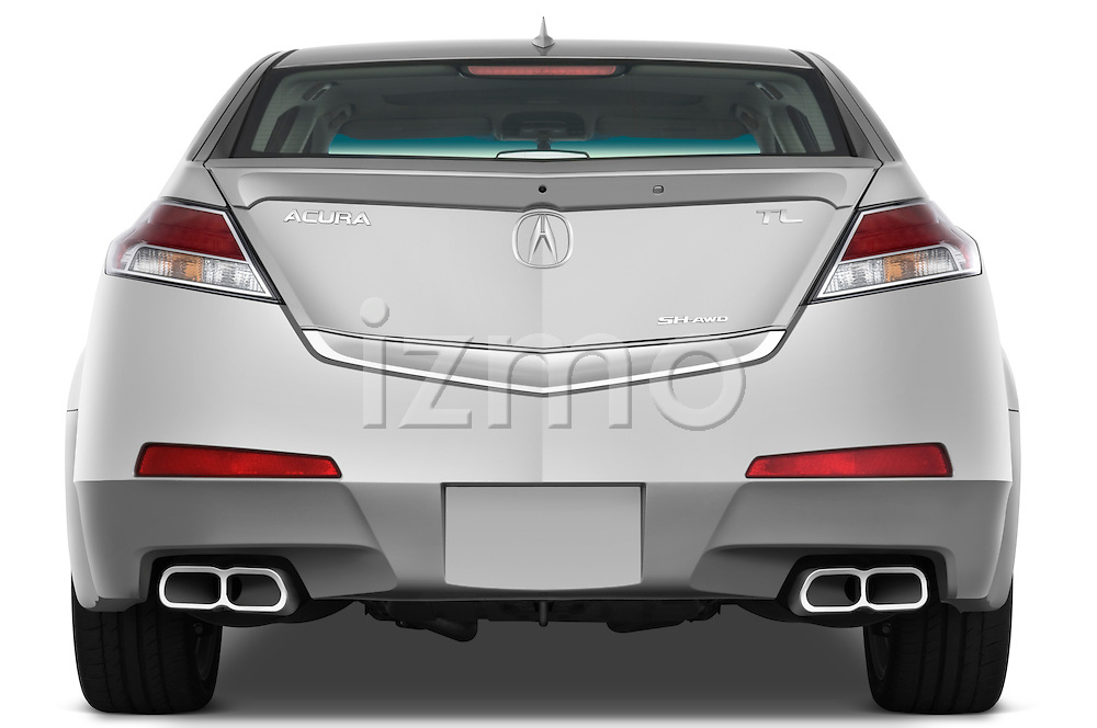 Straight rear view of a 2009 - 2014 Acura TL SH AWD Sedan.