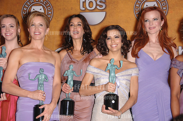 Desperate Housewives stars ANDREA BOWEN (left), FELICITY HUFFMAN, TERI HATCHER, EVA LONGORIA & MARCIA CROSS at the 12th Annual Screen Actors Guild Awards at the Shrine Auditorium, Los Angeles..January 29, 2006  Los Angeles, CA..© 2006 Paul Smith / Featureflash