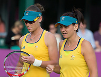 Casey Dellaqua & Samantha Stosur - Australia..Tennis - OLympic Games -Olympic Tennis -  London 2012 -  Wimbledon - AELTC - The All England Club - London - Saturday 28th June  2012. .© AMN Images, 30, Cleveland Street, London, W1T 4JD.Tel - +44 20 7907 6387.mfrey@advantagemedianet.com.www.amnimages.photoshelter.com.www.advantagemedianet.com.www.tennishead.net
