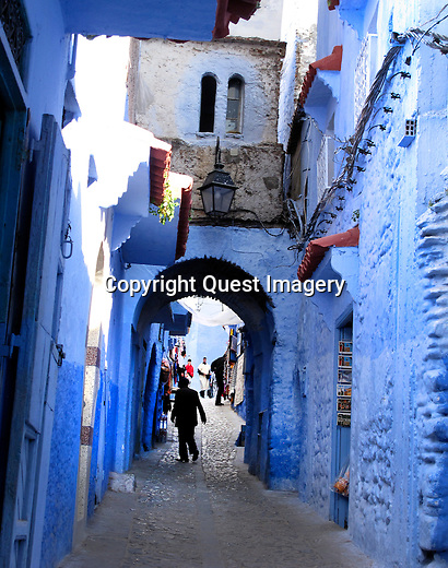 Chefchaouen or Chaouen is a city in northwest Morocco. It is the chief town of the province of the same name, and is noted for its buildings in shades of blue.<br />