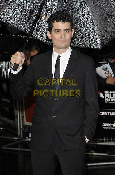 LONDON, ENGLAND - OCTOBER 15: Damien Chazelle attends the &quot;Whiplash&quot; Accenture gala screening, 58th LFF day 8, Odeon Leicester Square cinema, Leicester Square, on Wednesday October 15, 2014 in London, England, UK. <br /> CAP/CAN<br /> &copy;Can Nguyen/Capital Pictures